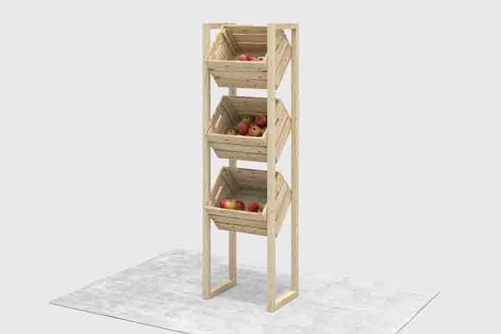 obstregal n tzlich selber bauen aufbewahrung obst. Black Bedroom Furniture Sets. Home Design Ideas
