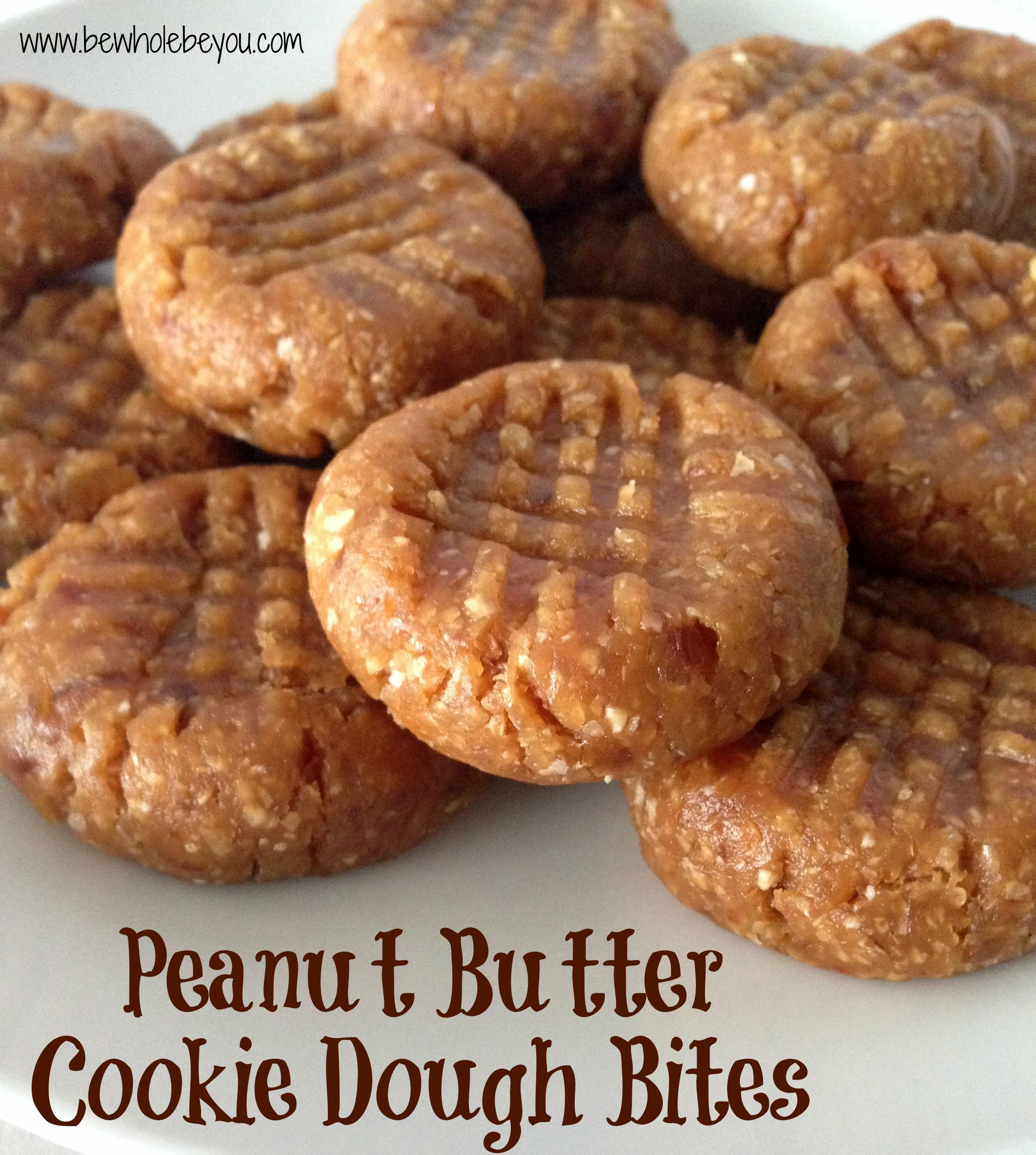 Peanut Butter Cookie Dough Bites. No bake and egg free so eat up! No refined sugar. #glutenfree #dairyfree #eggfree