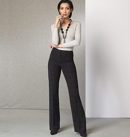 d2e0d151 Vogue Patterns 9181 Misses' Custom-Fit Bootcut Pants | Sewing ...