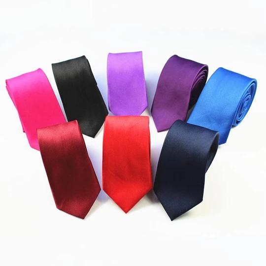Casual Solid Plain Classic Skinny 100/% New Silk Woven Slim Necktie Men/'s Tie