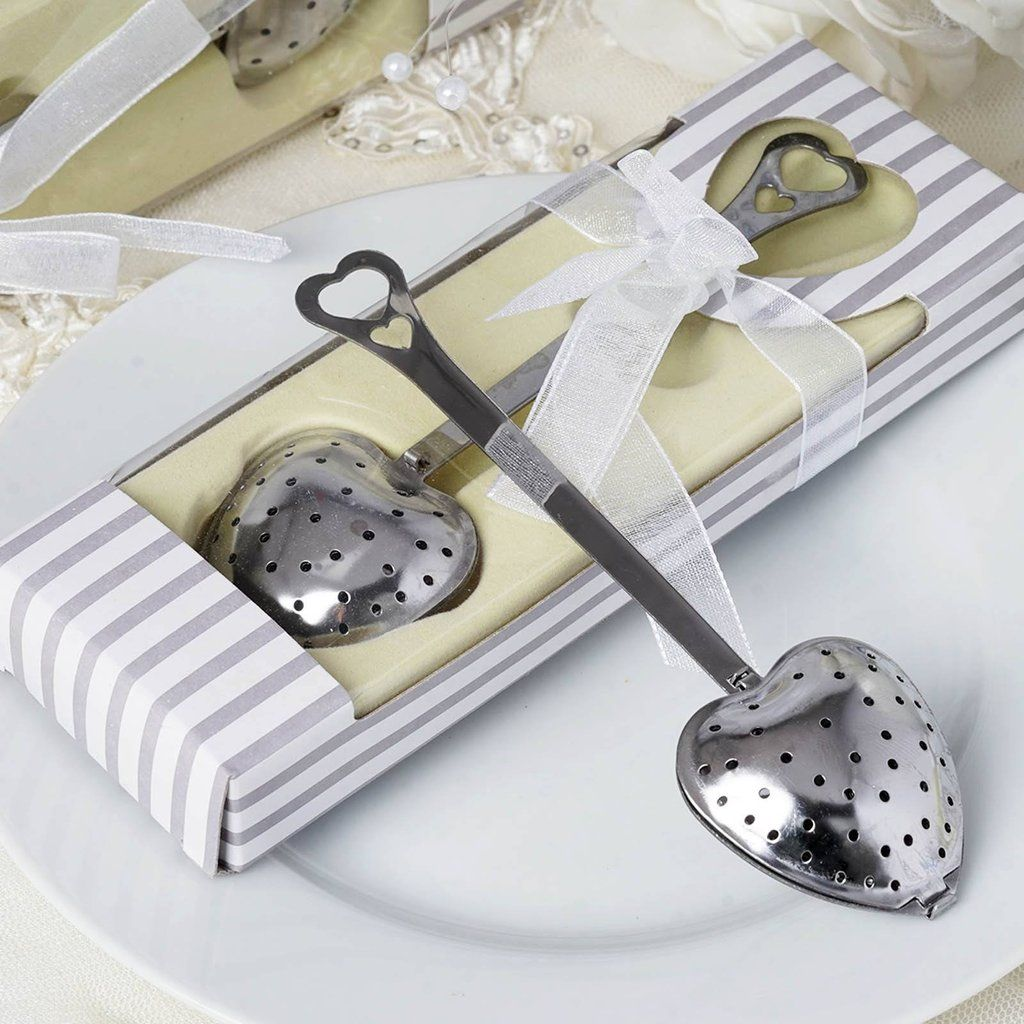 Heart Shaped Tea Infuser Spoon Filter | Favors, Bridal showers and ...