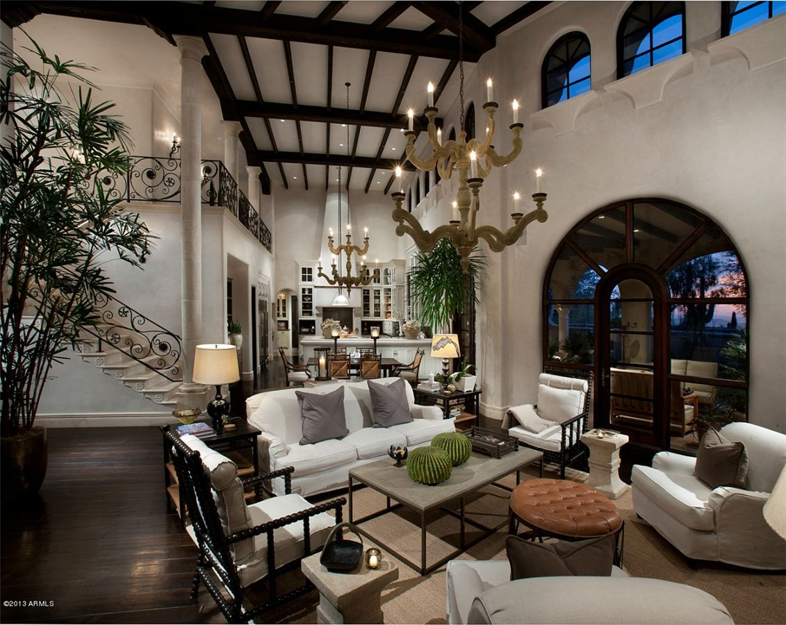 Tour This Lush Arizona Mansion Made Possible By Pickles Spanish Style Homes Spanish Colonial Decor Spanish Decor