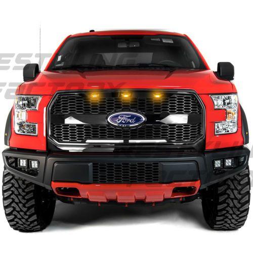 15 17 Ford F150 Raptor Style Gloss Black Mesh Grille W Emblem