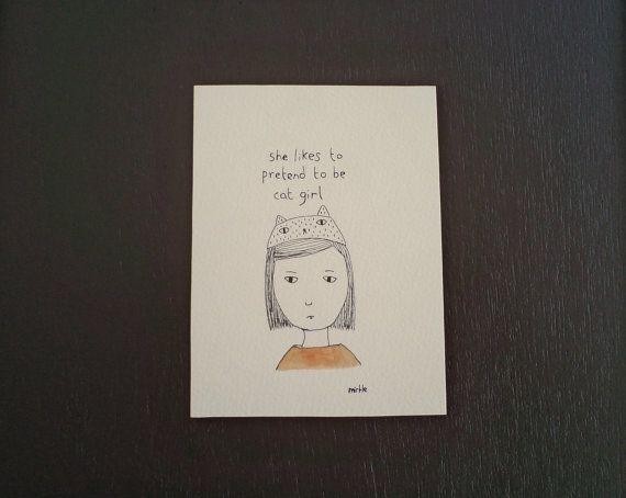 chica gato (dibujo)
