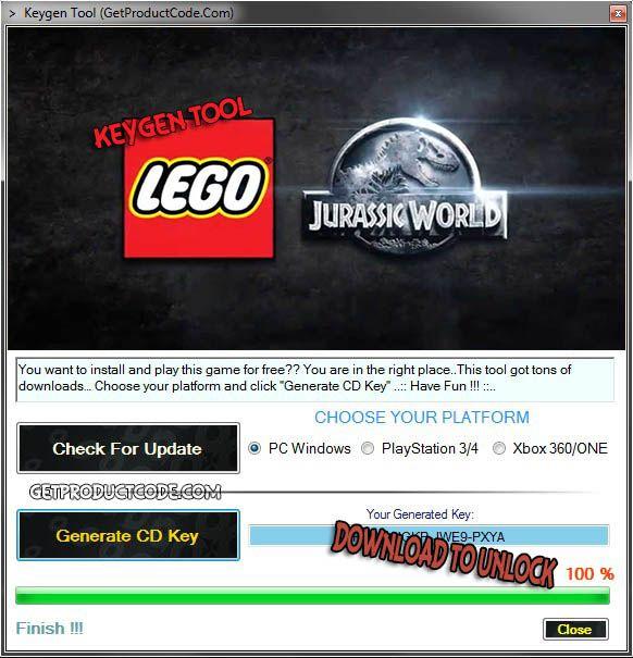 LEGO Jurassic World CD Key Generator | Free Game Keygens and ...