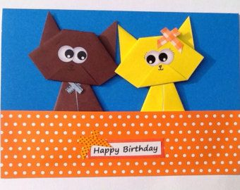 Popular Items For Cute Cat Card On Etsy 動物 Pinterest Cards