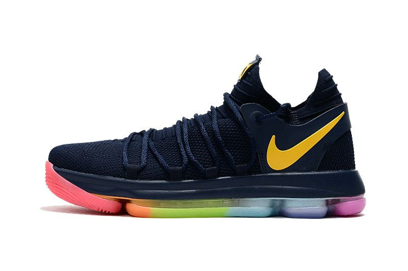 100% authentic 3e5bf 47dbb 2017 New Arrival Latest KD 10 X Navy Be True Rainbow For Cheap