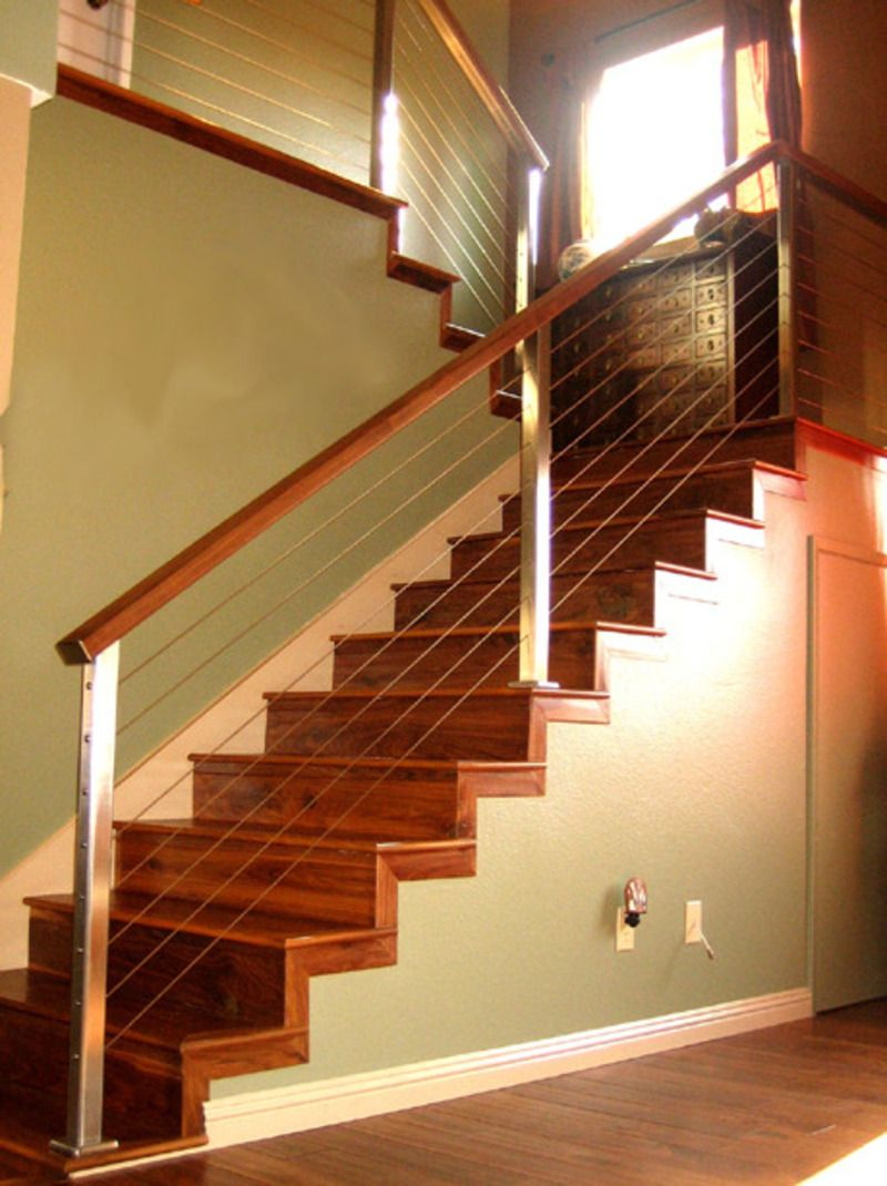 Railing Idea   Dark Wood To Match Flooring
