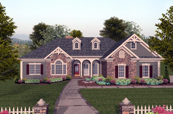 House Plan 74804 | Craftsman Plan with 2000 Sq. Ft., 4 Bedrooms, 3 Bathrooms, 3 Car Garage at family home plans
