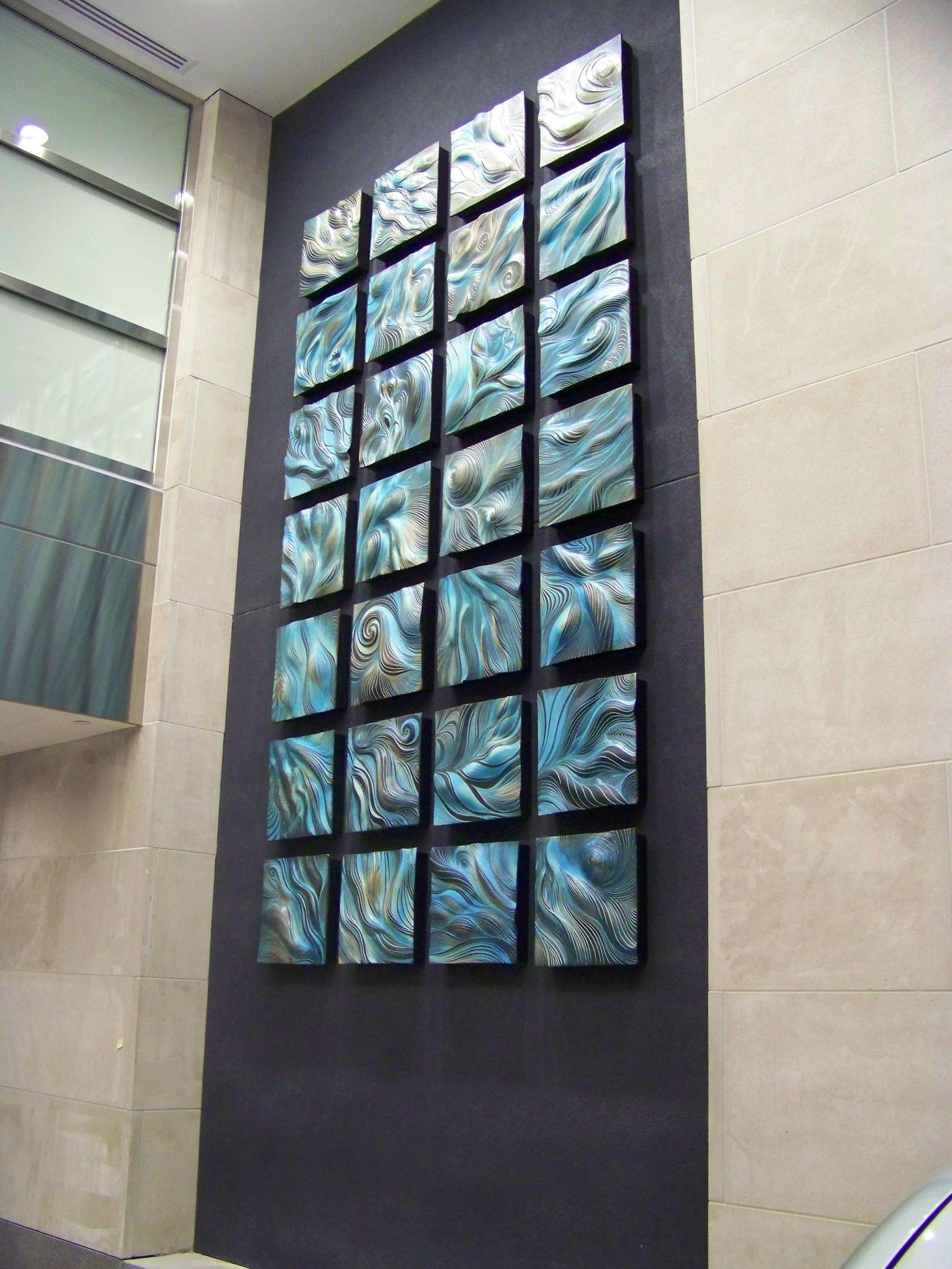 Delicieux Natalie Blake Studios   Installation Shots Of Sculptural Wall Art Tile