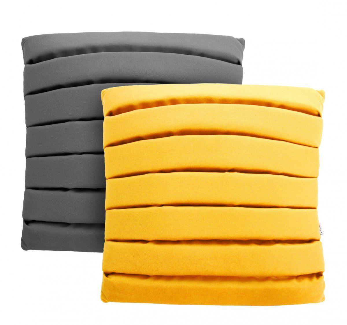 Zestaw 2 poduszek Level MOODI 40x40 cm. szary i żółty