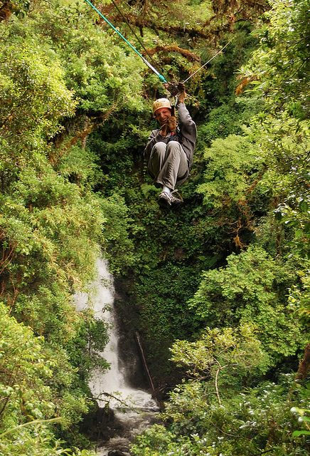 Zip Lining in Costa Rica! My first zip line experience was here and it was scary.