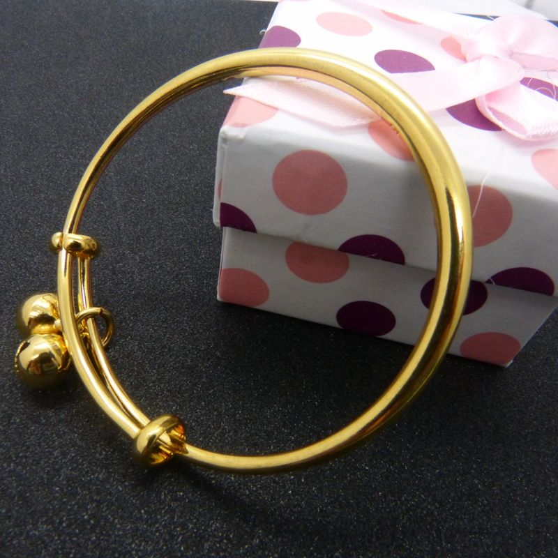 Smooth Children\'s Adjustable Jewelry Solid Yellow Gold Filled Kids ...