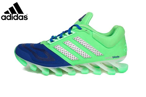 a35e6131a9c8 Men s Adidas Springblade 5 Running Shoes Fluorescent Green Blue ...