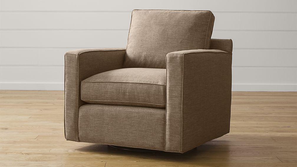 Davis Swivel Chair Crate And Barrel Darius Gray Fabric