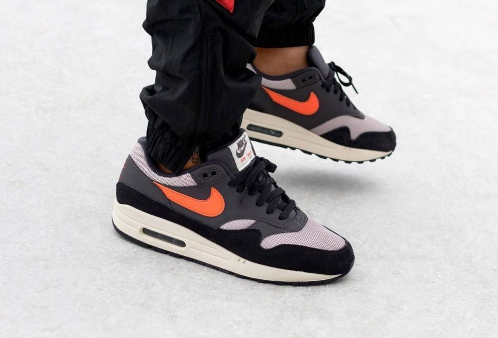 official photos 5bd51 50865 Nike Air Max 1 -  Wild Mango  Thunder Grey, Taupe   Mango Trainers
