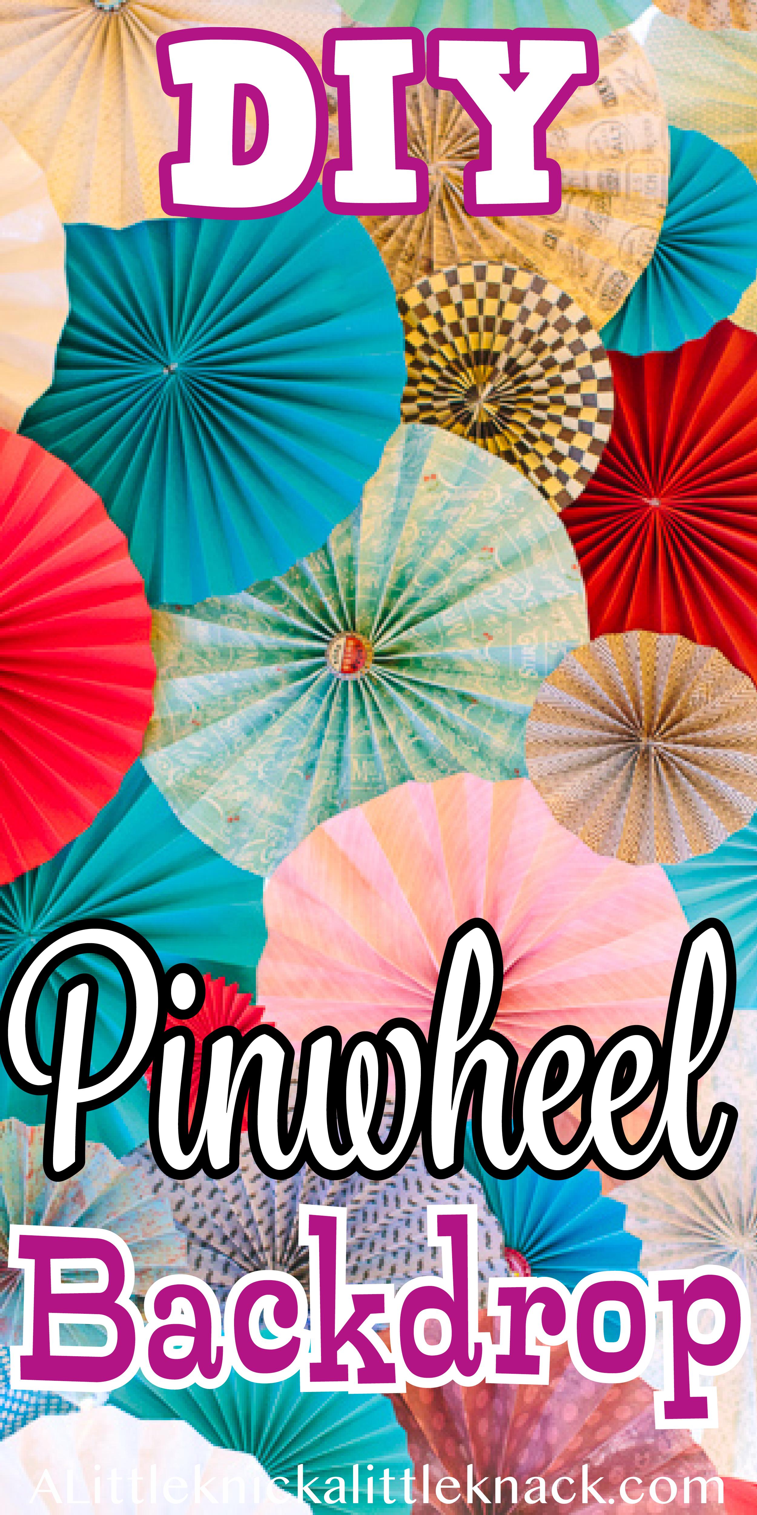 DIY Pinwheel Backdrop (With images) | Diy pinwheel ...