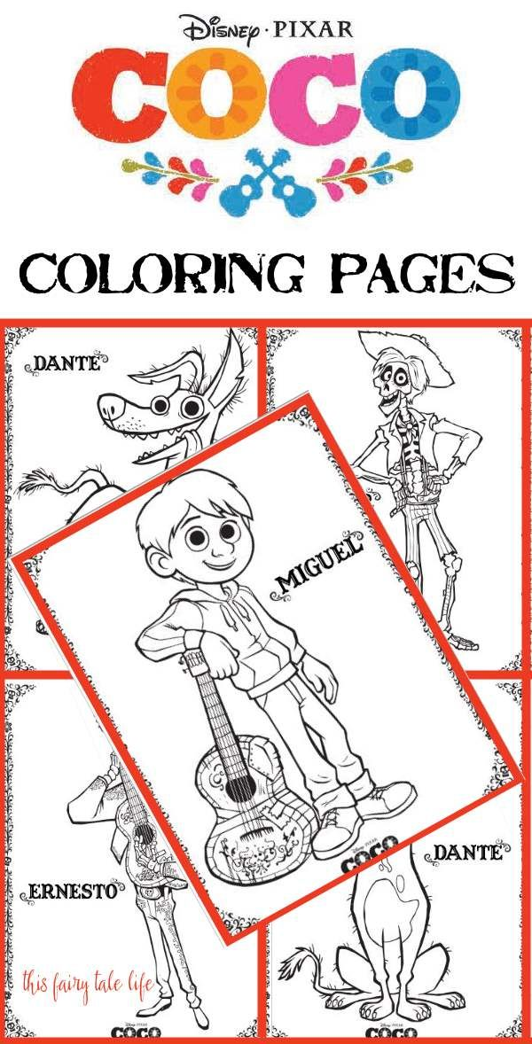 COCO Coloring Pages And Activities Disney Printables Coco
