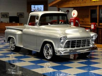 1955 Chevrolet 3100 Stepside Big Window Classic Trucks Classic Cars Trucks 57 Chevy Trucks
