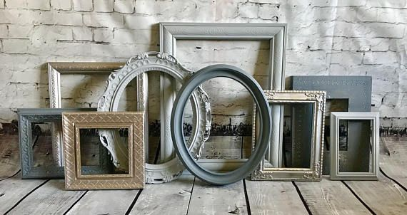 Picture Frame Set Free Frame With Purchase Shades Of Gray And Silver