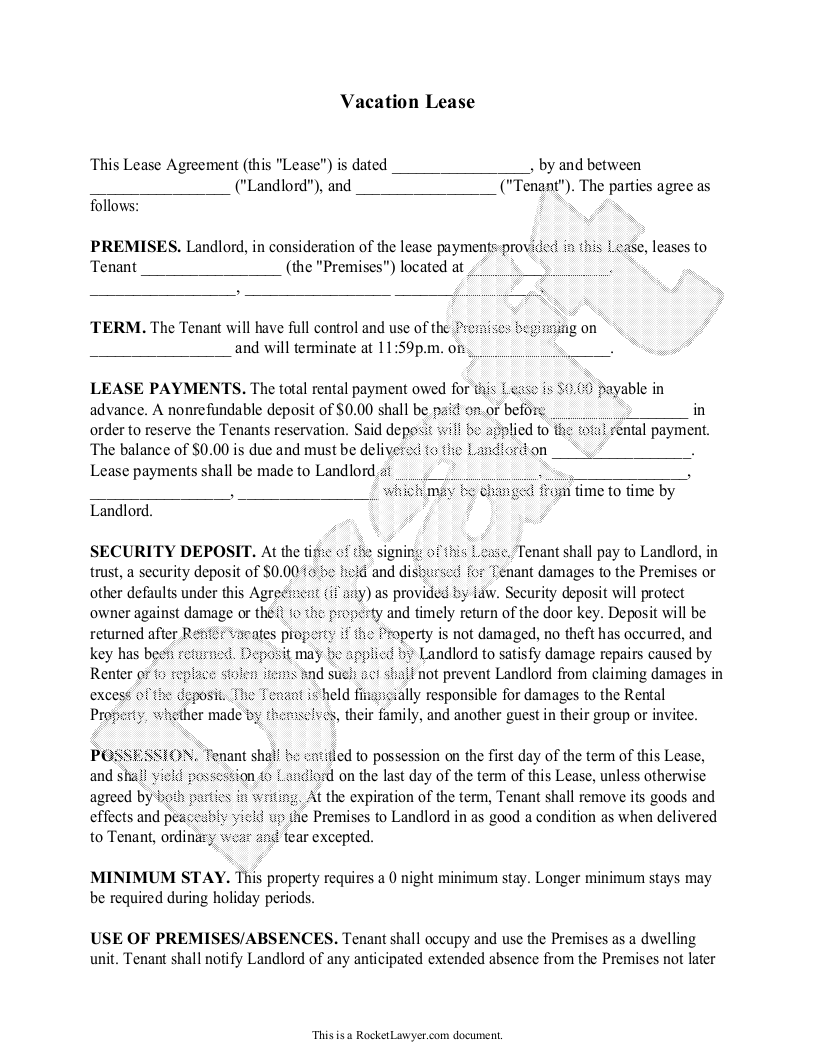 Rocket Lawyer Interview  Lease