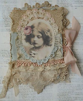 Mixed Media Fabric Collage Book of Paris Belles and Roses   eBay