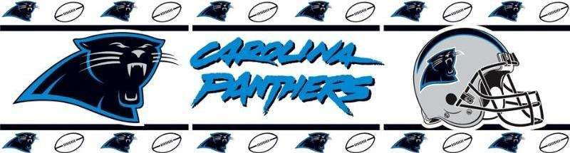 carolinapantherswallborder Carolina panthers