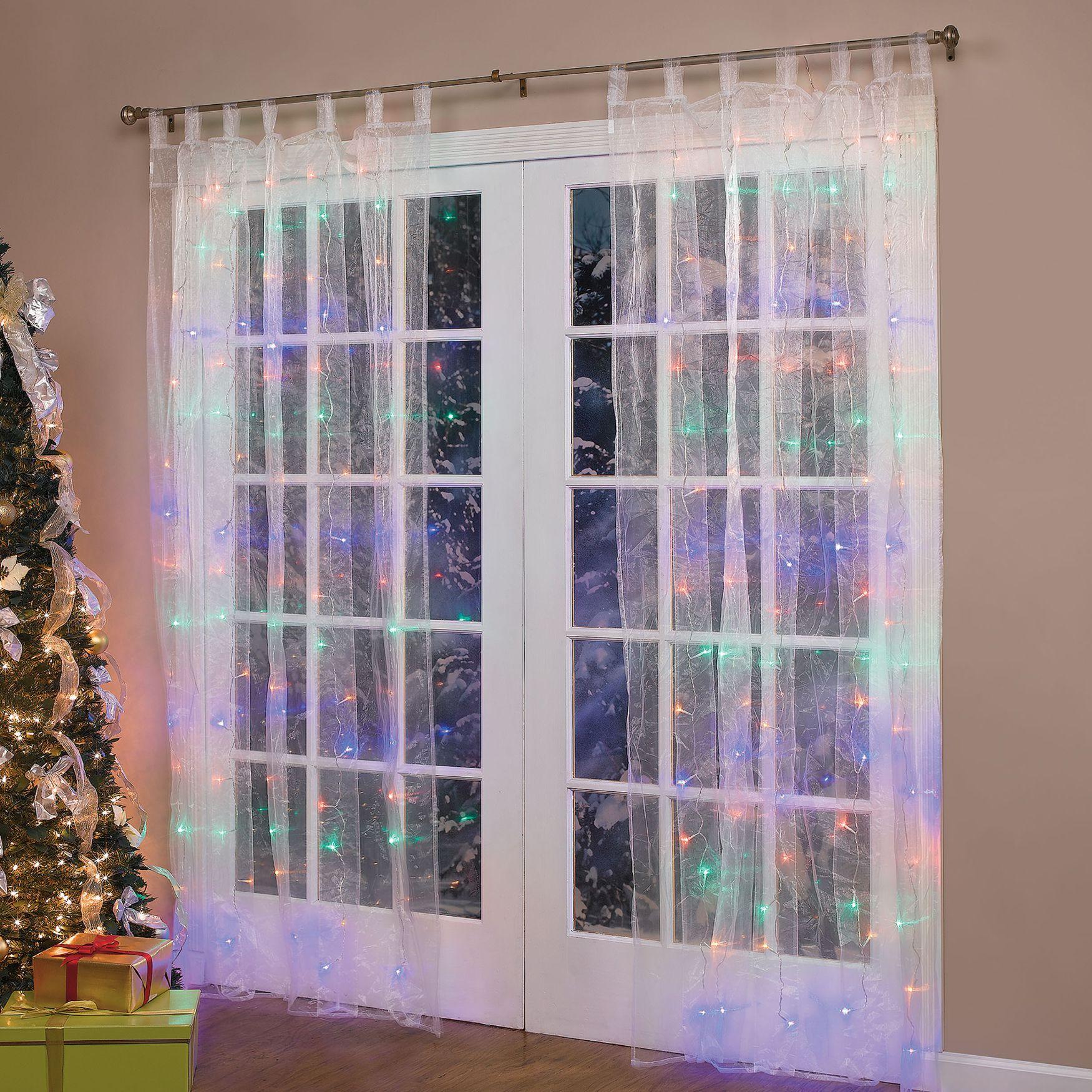 Pre-Lit Curtain Multi Panel; Sale $29.99