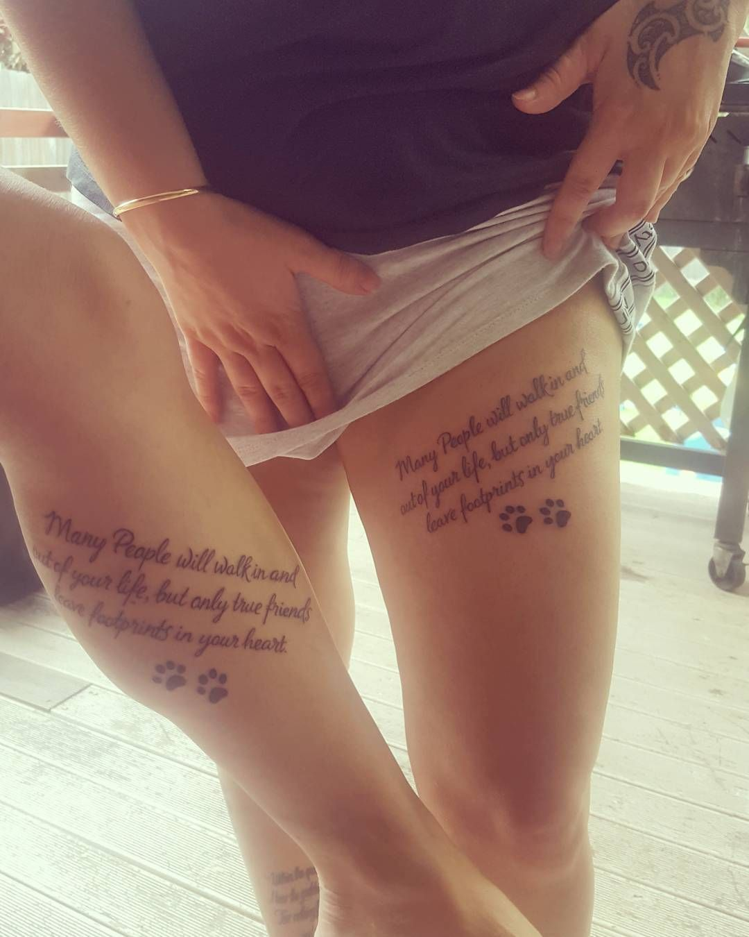 Friendship Quote Thigh Tattoos Best Friend Tattoos Friend