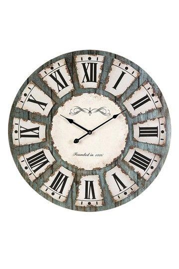 Imax Sabra Wall Clock Wall Clock Unique Wall Clocks Rustic Wall Clocks