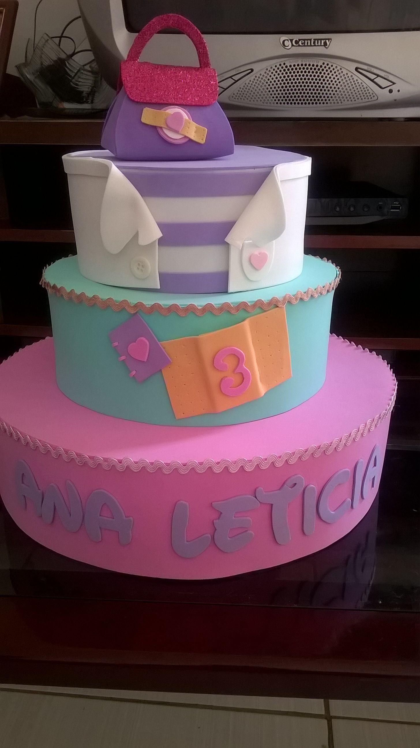 Well-known Bolo falso Doutora Brinquedos | cake foami | Pinterest | Fiestas  GR69