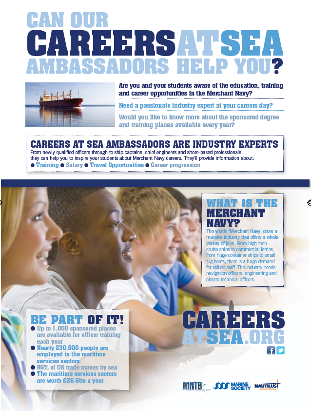 Careers at Sea Ambassadors!! Have one of our Ambassadors