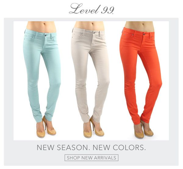 Two new colors from Level 99 in the Lily skinny straight available now!