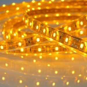 12v Smd3528 Led Horizontal Ribbon Flexible Led Strip Light 5m 16ft Waterproof Yellow Amber Colo Flexible Led Strip Lights Led Strip Lighting Led Light Strips