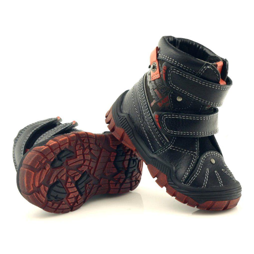 Trzewiki Chlopiece Bartek 61206 Czarne Czerwone Baby Shoes Shoes Fashion
