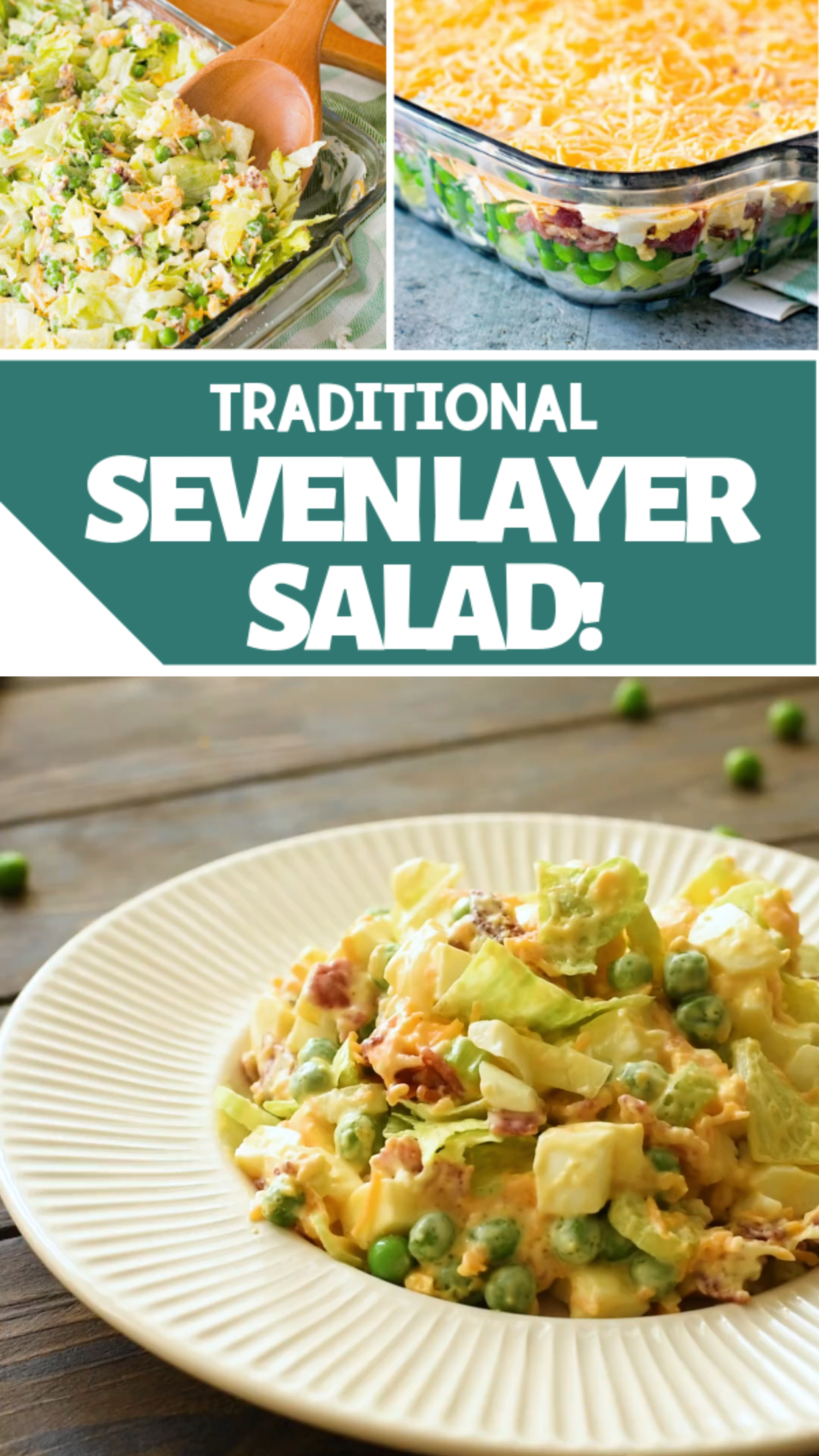 Traditional Seven Layer Salad Video Layered Salad Recipes Seven Layer Salad Layered Salad