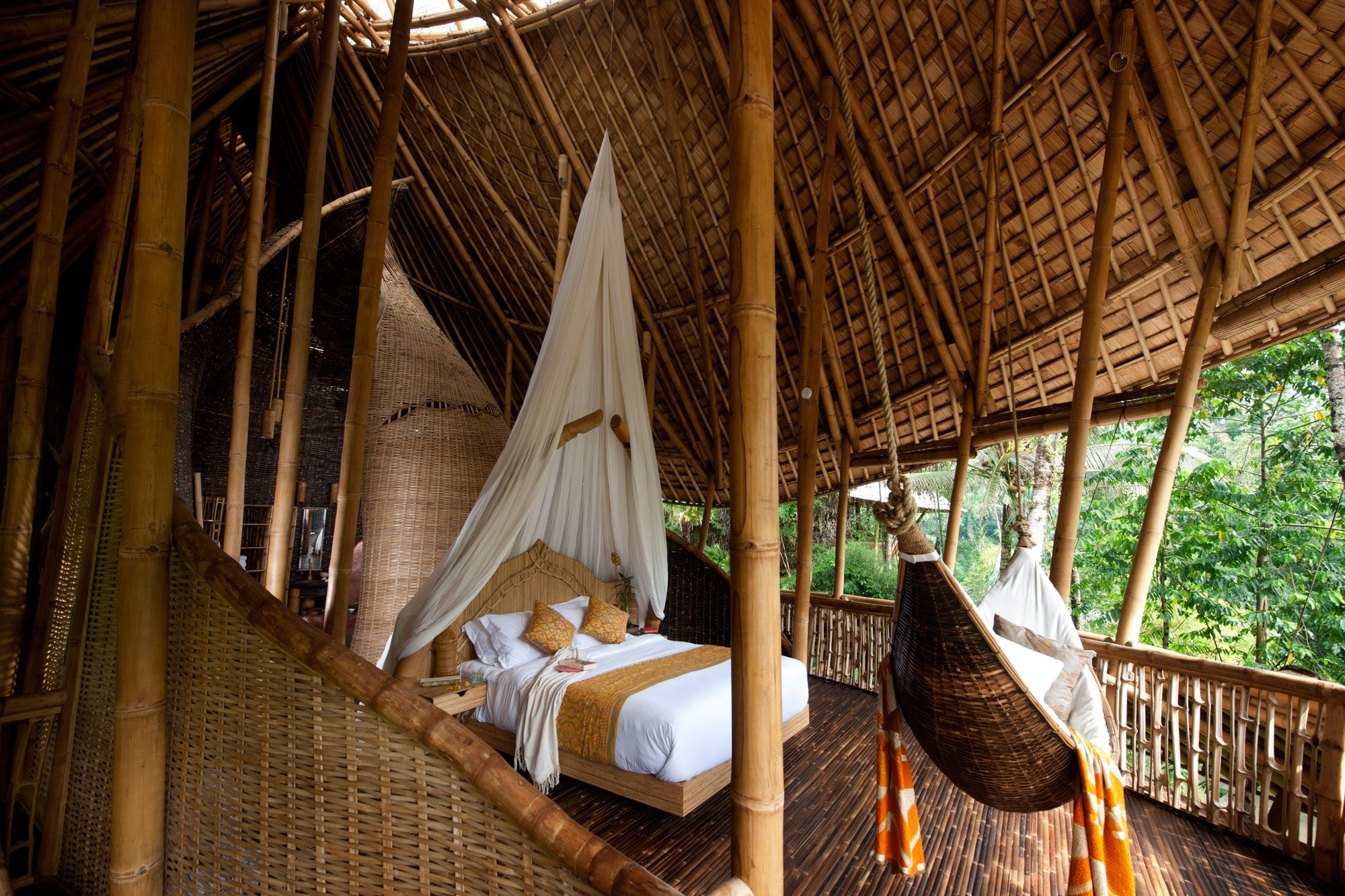 The Green Village River House Bali Indonesia Ibuku River House Bali House Bamboo Building