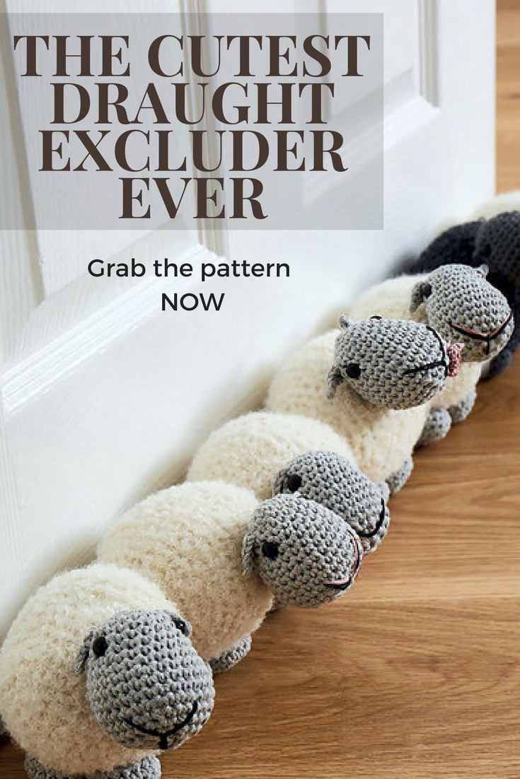 A very cute knitting pattern for a sheep-themed draught ...