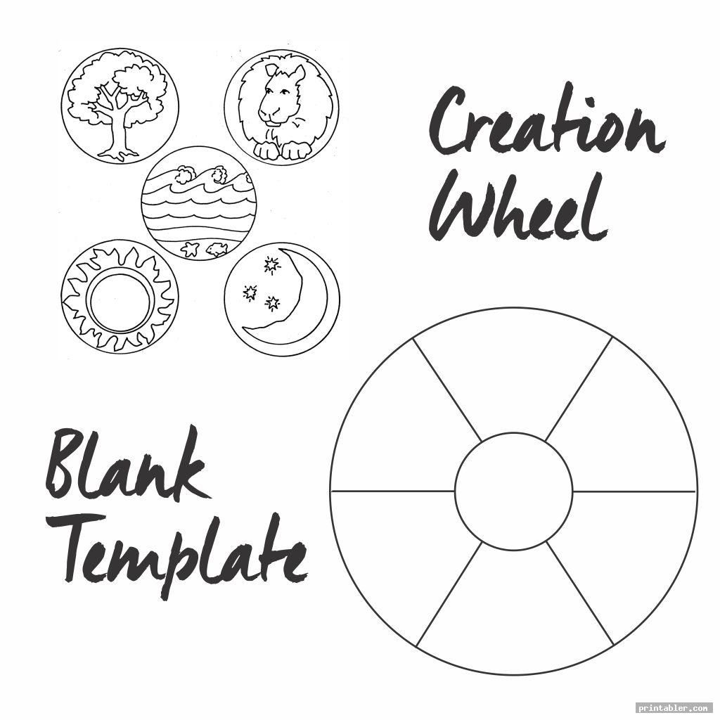 Blank Template Creation Story Wheel Printable
