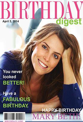 Birthday Digest Magazine Cover Birthday Card Free Greetings Island Anti Aging Skin Products Dentist Winter Skin