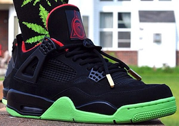 nike chaussures personnalisées athlète - Air Jordan 4 Cavs - Asvp Freshh | My Addiction <3 | Pinterest ...