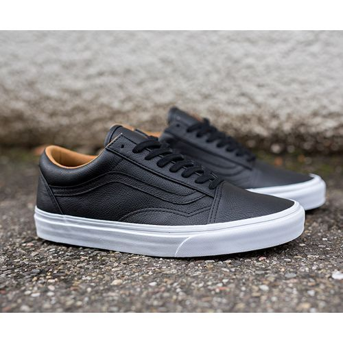 vans old skool leder premium schwarz herrenschuhe. Black Bedroom Furniture Sets. Home Design Ideas