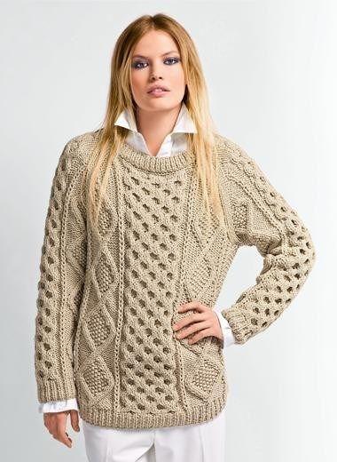 Ierse Trui.Breipatroon Ierse Trui Van Andere Kant Breien Sweater Knitting