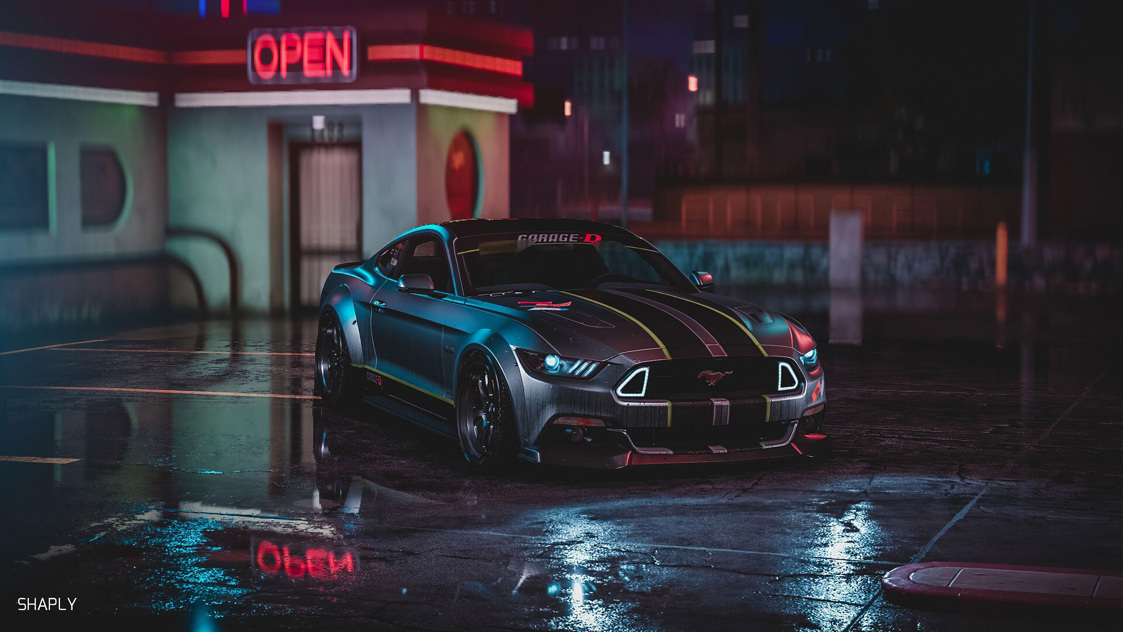 Mustang Gt Neon Ford Mustang Wallpaper Mustang Gt Ford Mustang