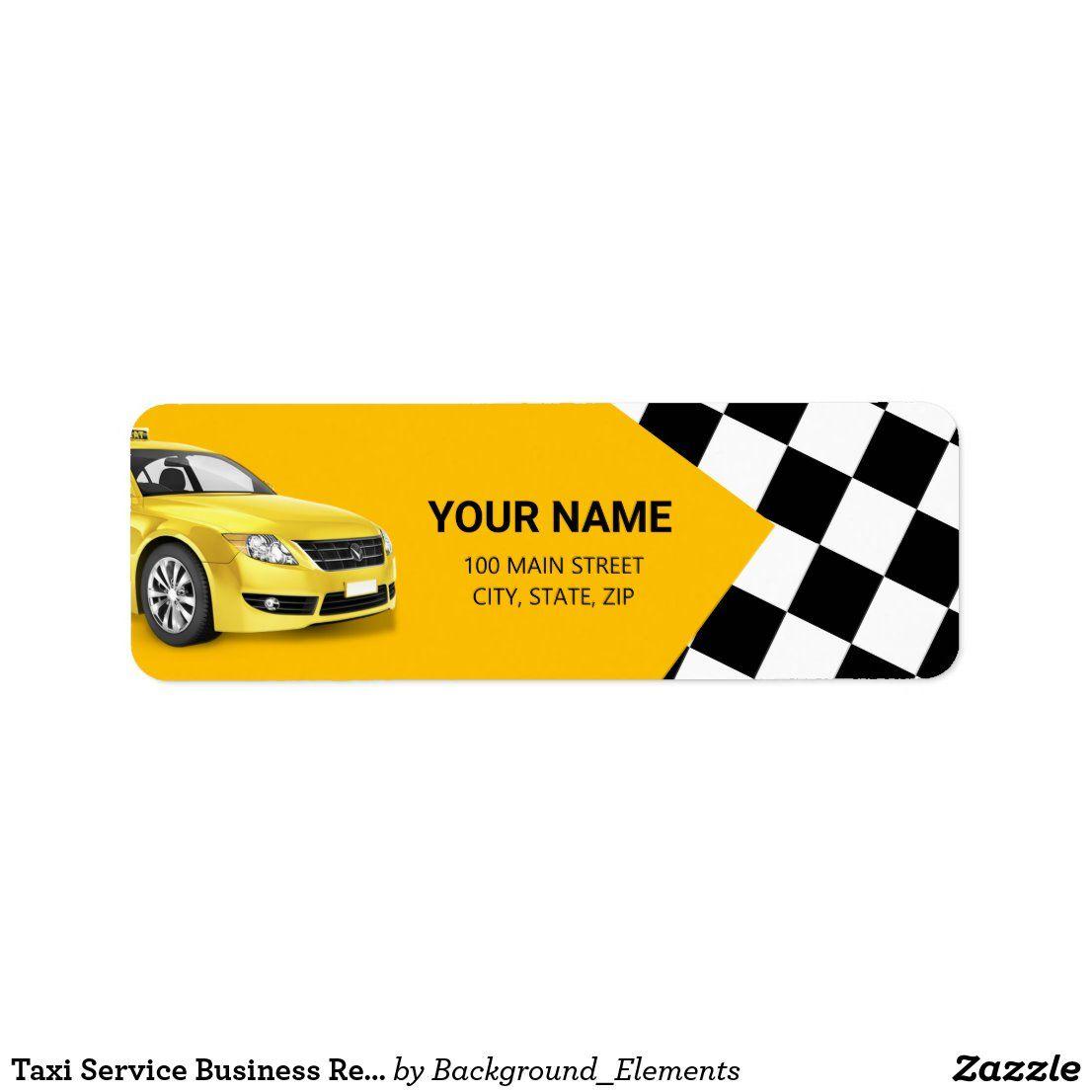 Taxi Service Business Return Address Label Services Business Business Return Address Labels [ 1106 x 1106 Pixel ]