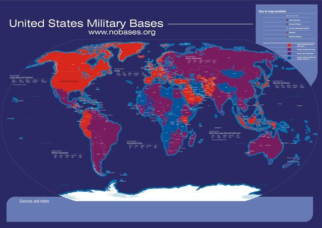 Infographics - US Military Bases Around The World | infographic love ...