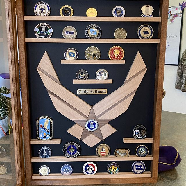 Air Force Challenge Coin Display Case Military Retirement
