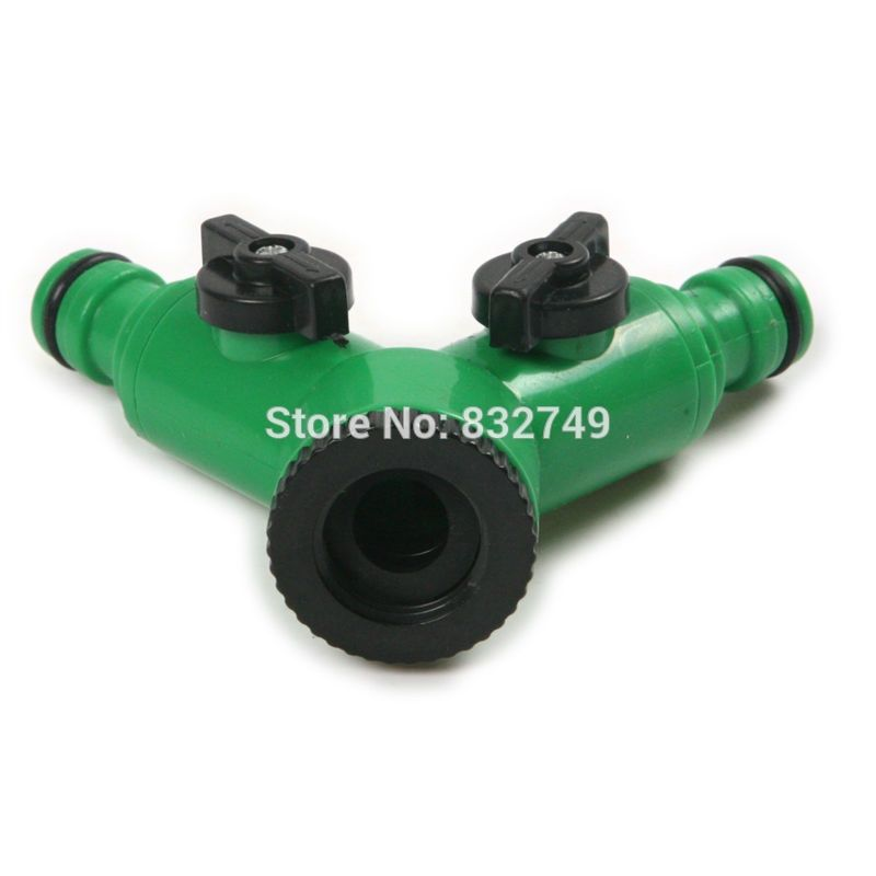 Reviews 1 Pcs Garden Hose Irrigation Fitting Hose Splitters Two