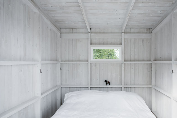 A little white room- a country house guesthouse?  From the Free People blog
