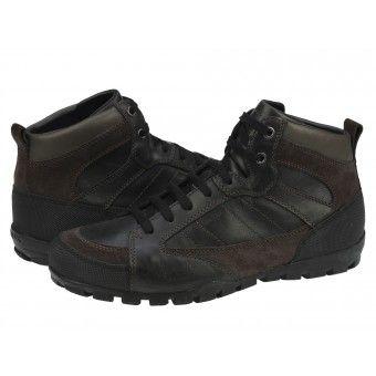 adidași ieftin boutique outlet preț scăzut Ghete casual barbati Geox Roccia black-mud   Ghete Barbati   All ...